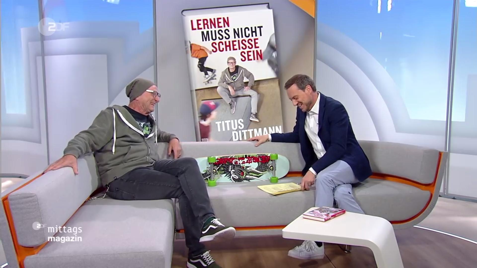 Zu Gast im ZDF Mittagsmagazin am 3.5.2019