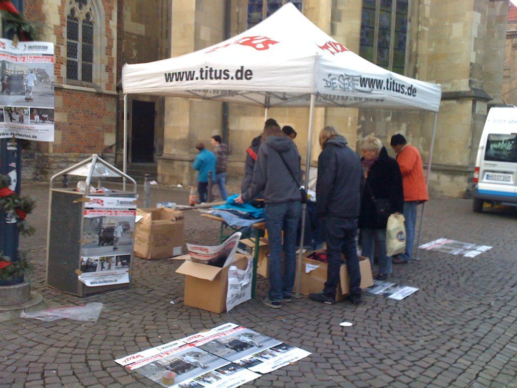 Große Board-Sammelaktion für Kabul in Münster