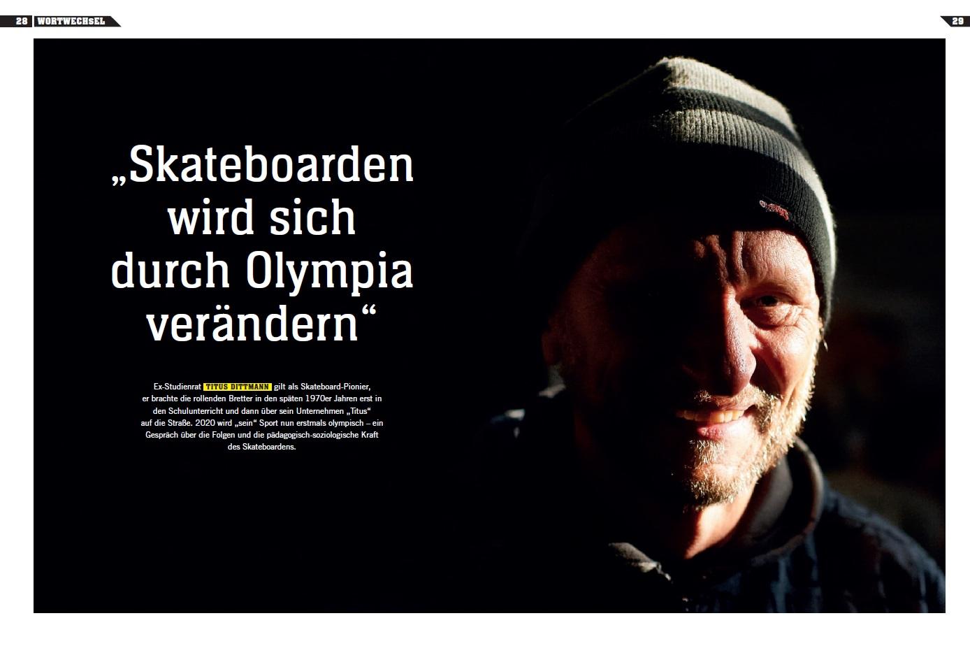 Titus im Gold Magazin der Stiftung Deutsche Sporthilfe