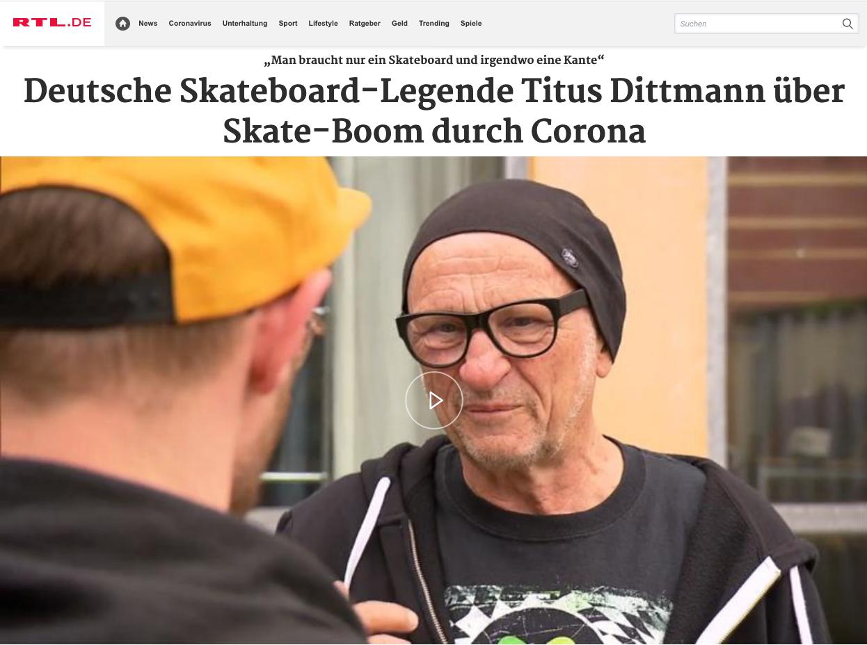 Skateboom durch Corona -Beitrag n-tv