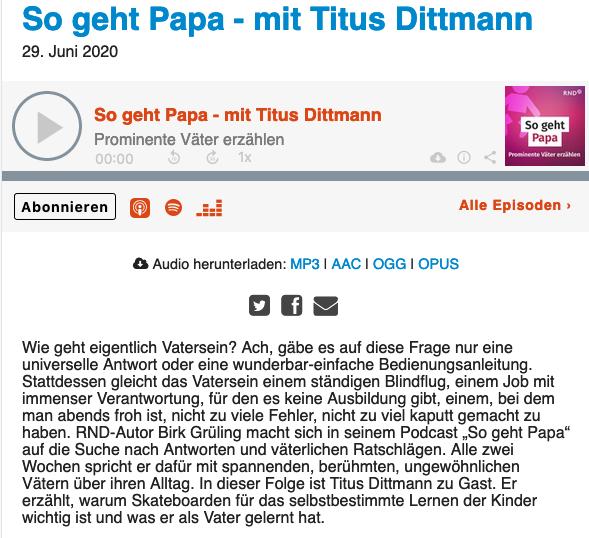 Papa-Podcast mit Titus