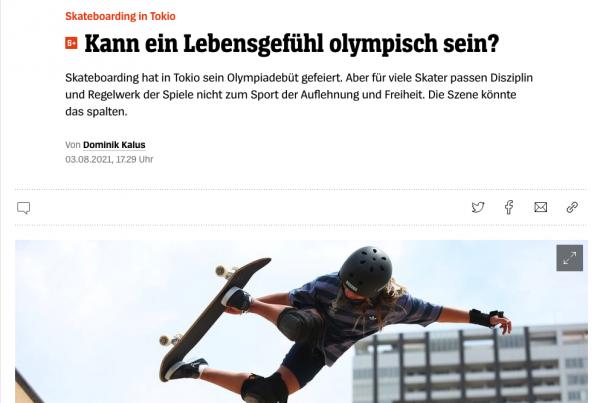 SPIEGEL-Artikel Skateboarding Olympia
